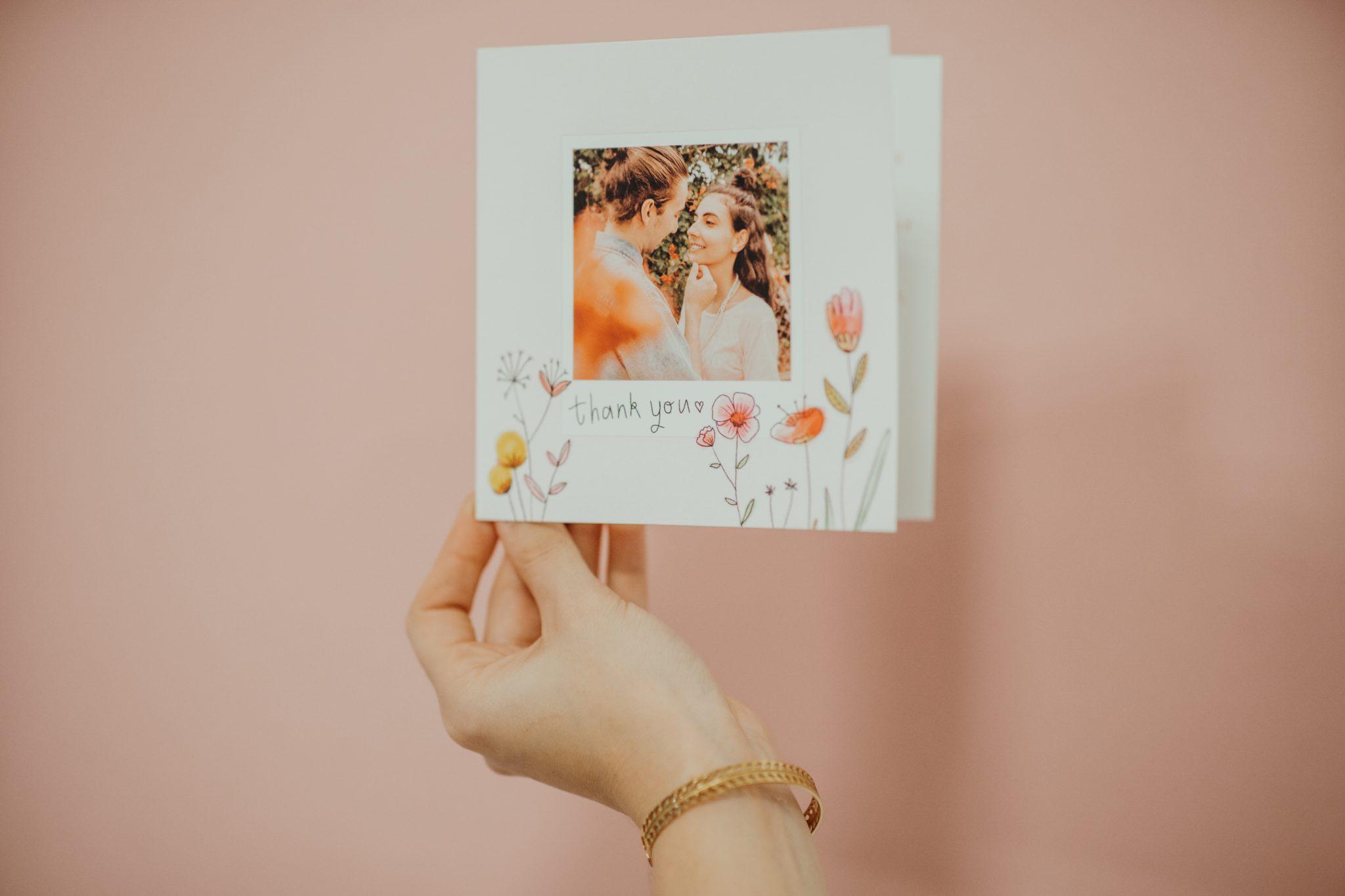 carte remerciement lettre d'amour