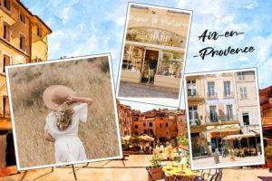 Carte postale illustree d'Aix-en-Provence