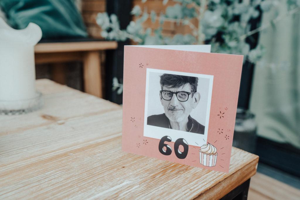 Carte d'anniversaire 60 ans avec photos