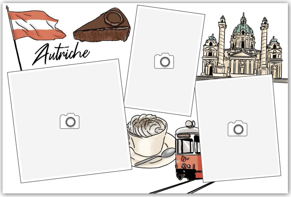 carte postale autriche café viennois