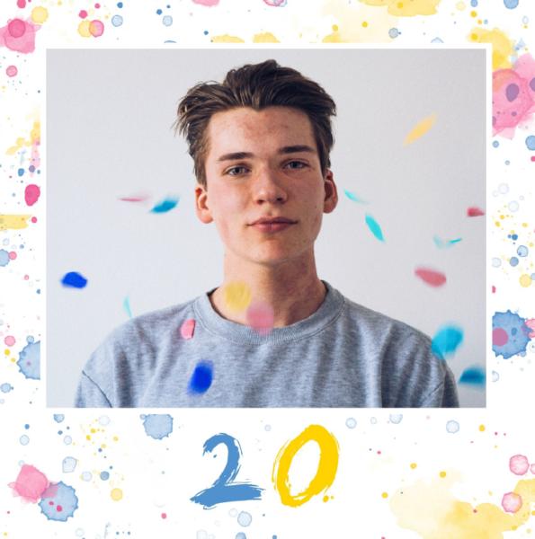 Carte evenement anniversaire 20 ans
