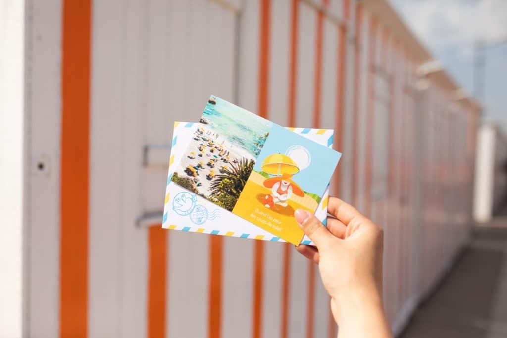 Enveloppe et recto de carte postale Fizzer