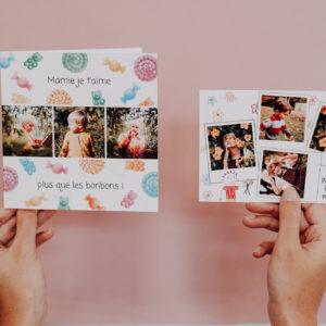 carte evenement ou carte postale fete des grands-meres