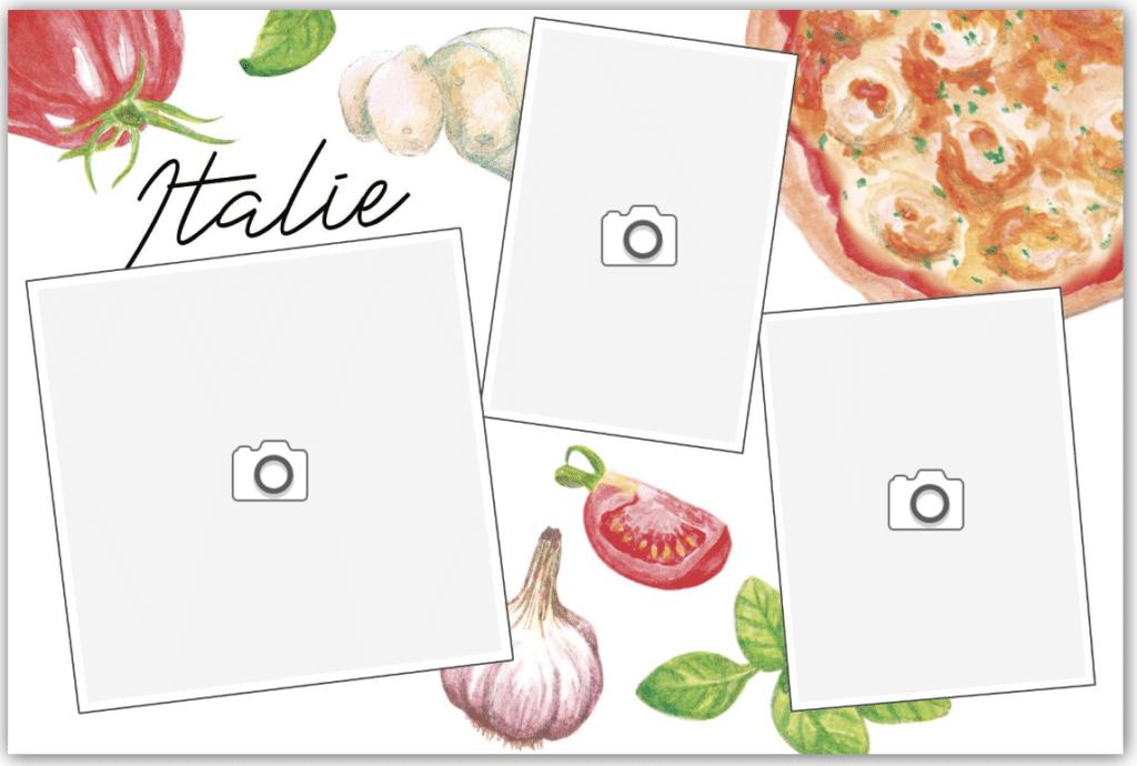 carte spécialités culinaires italiennes