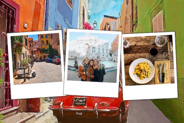 Carte d'Italie avec voiture de collection rouge