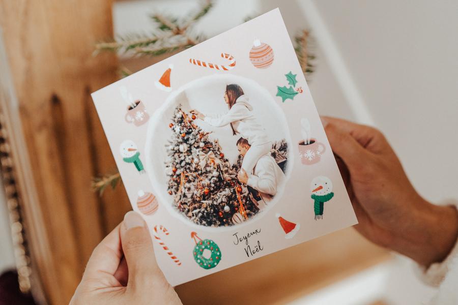 Carte Joyeux Noel avec photo