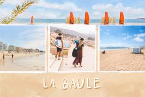 Carte postale La Baule avec parasols oranges