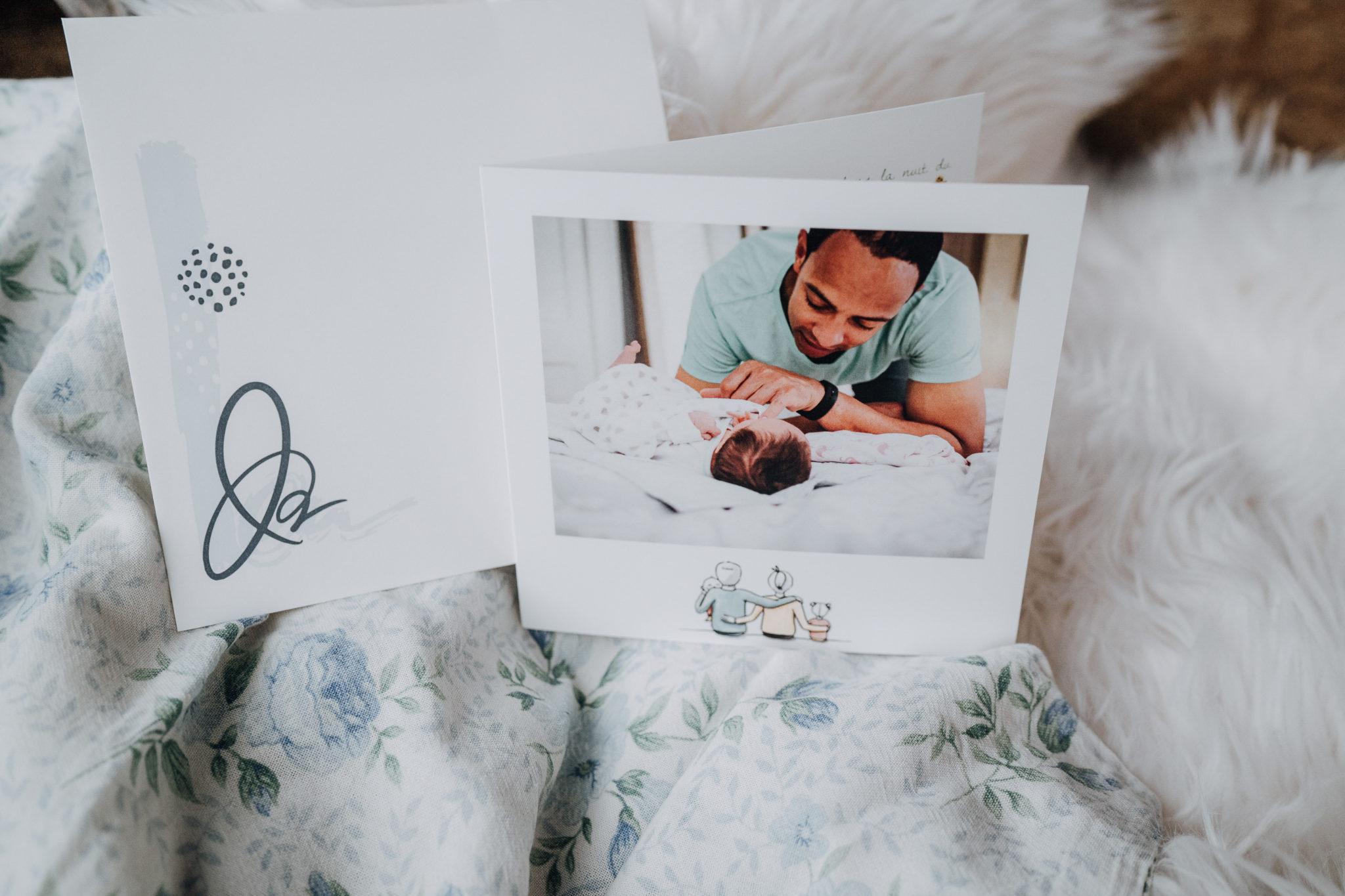 carte de naissance famille avec papa