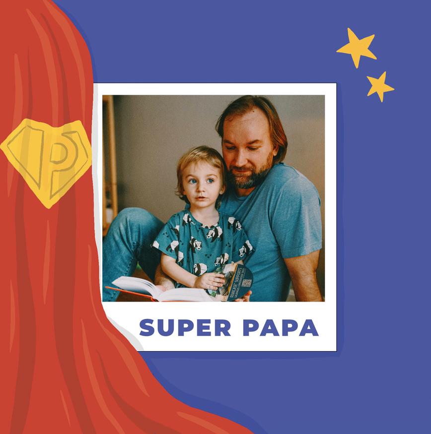carte fete des peres 2020 super papa heros