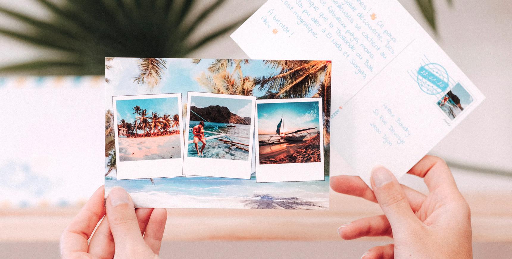 carte postale voyage et son texte