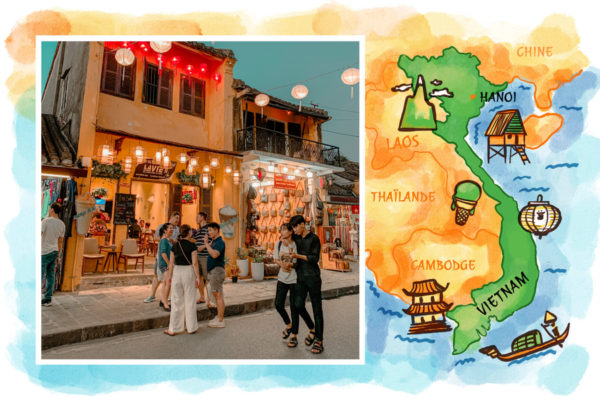 carte postale vietnam