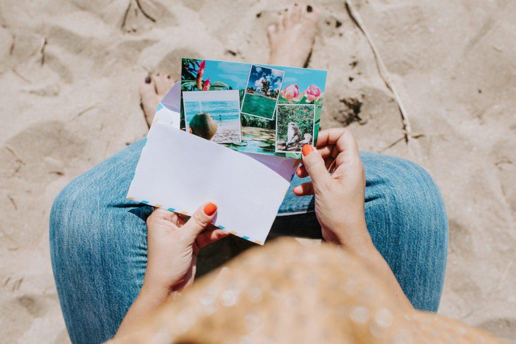 texte carte postale vacances a la plage