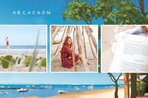 Carte de la baie d'Arcachon avec plage