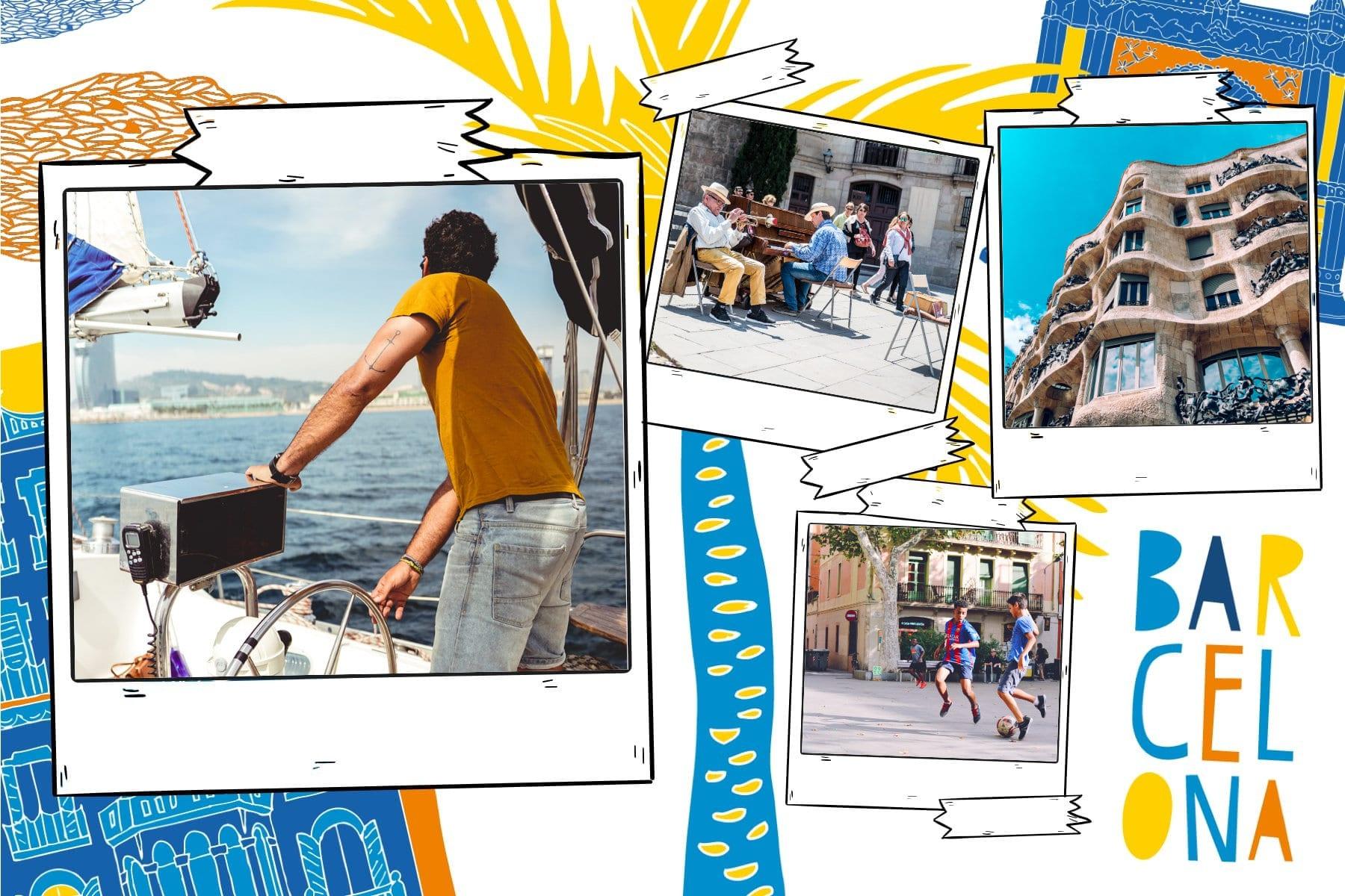 Carte postale personnalisée Fizzer aux couleurs de Barcelone