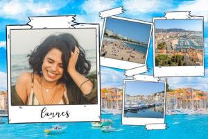 Carte illustree de Cannes sur la Cote d'Azur