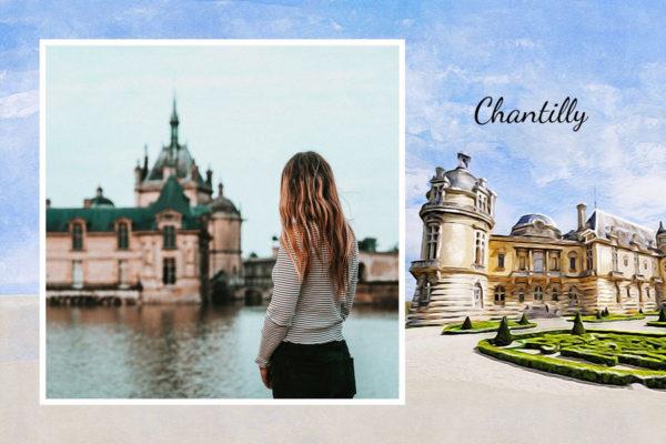 Carte postale Chateau de Chantilly dans les Hauts de France