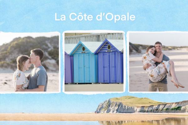 Illustation carte personnalisee Cote d'Opale