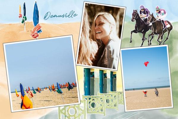 Carte postale parasols et hippodrome de Deauville