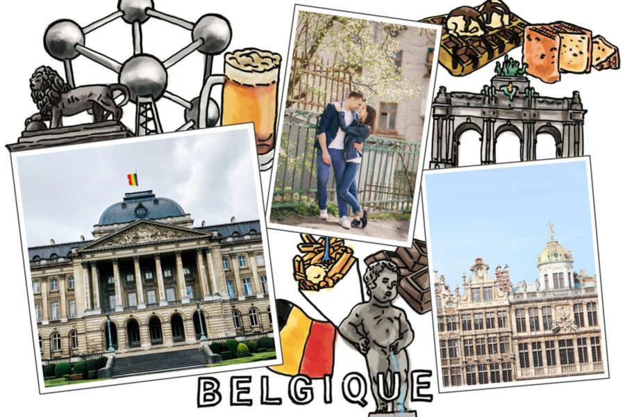 Carte postale Belgique : à personnaliser avec vos photos   Fizzer