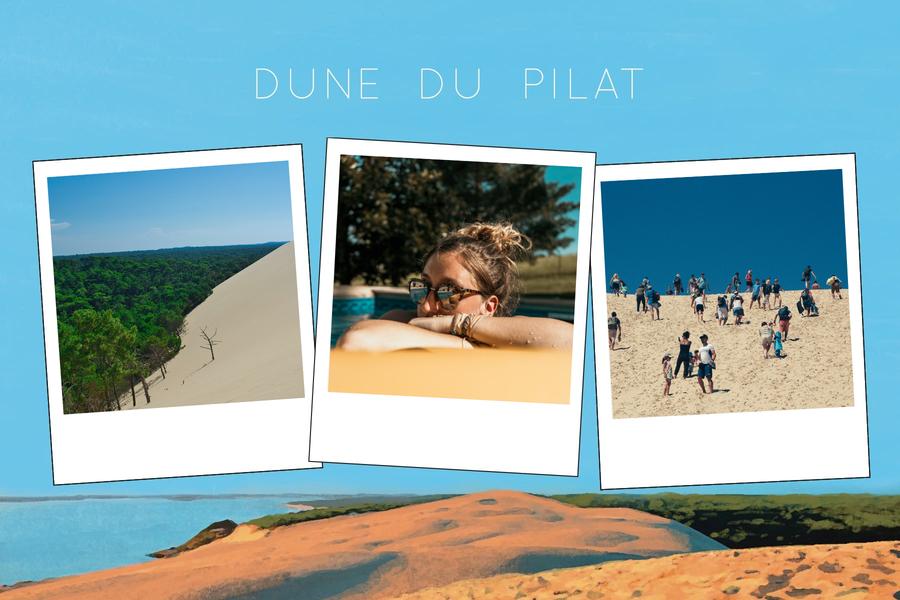 Dune du Pilat et trois photos