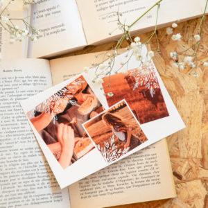 Carte postale personnalisee Fizzer avec trois photos