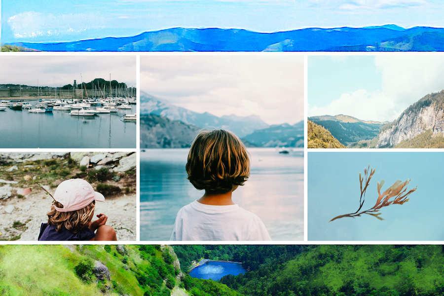 Carte postale des montagnes Grand Est