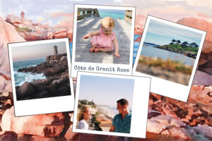 Carte quatre photos Cote de Granit Rose