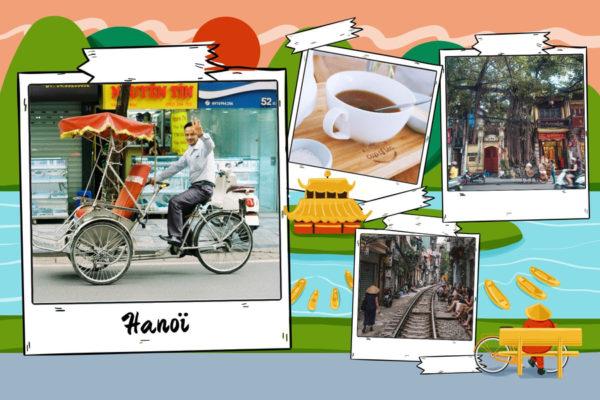 carte postale hanoi