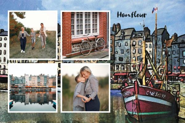 Carte postale du port de Honfleur en Normandie