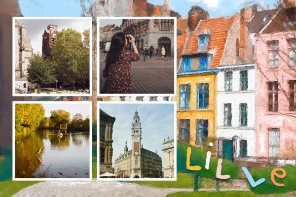 Maisons colorees de Lille capitale des Hauts de France