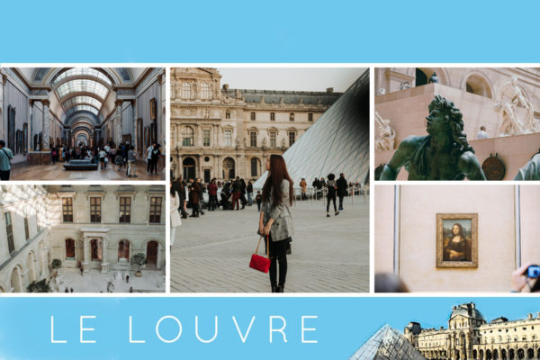 Carte postale illustree du Musee du Louvre a Paris