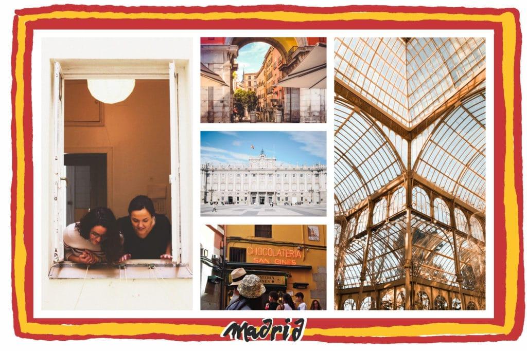 Carte postale de Madrid, Espagne