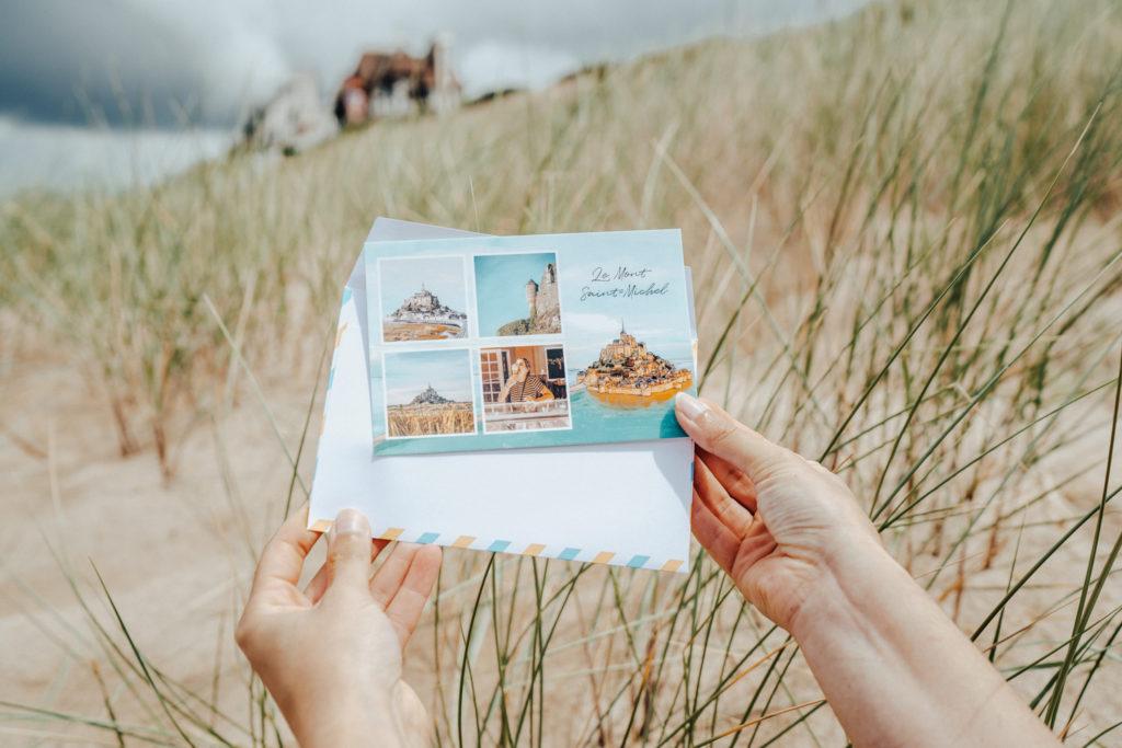 Carte postale Fizzer du Mont-Saint-Michel avec enveloppe
