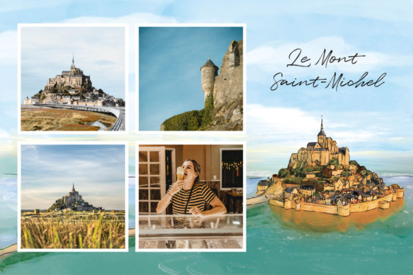Carte du Mont-Saint-Michel Manche, Normandie