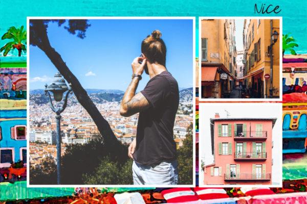 Carte postale illustree de Nice