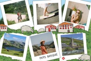 Carte du Pays basque avec maisons des pyrenees