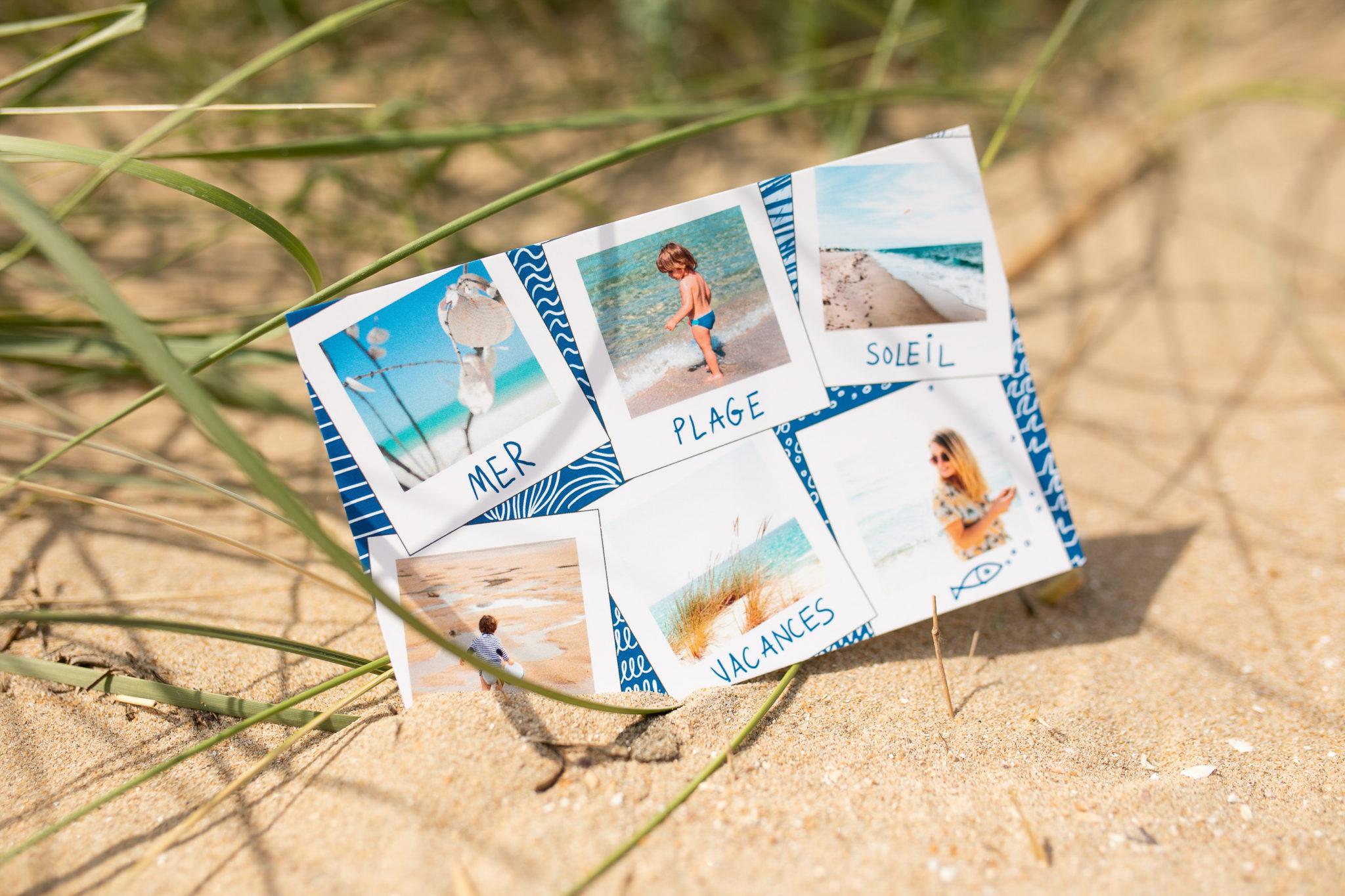 Cartes postales illustrées de l'été à la plage