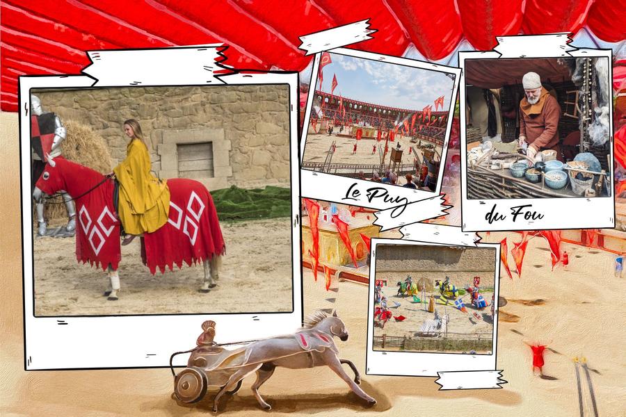 Carte postale du parc le Puy du Fou en Pays de la Loire