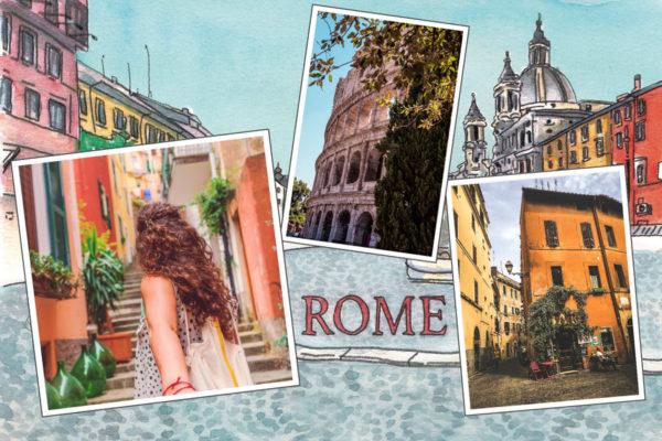 Carte postale Rome en Italie