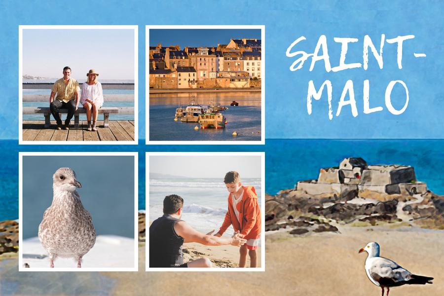Carte postale Saint-Malo avec goeland marin