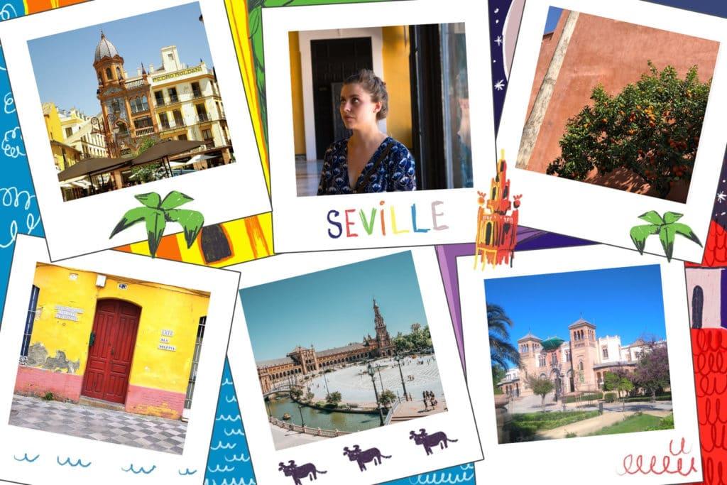Carte postale de Séville, ville au sud de l'Espagne