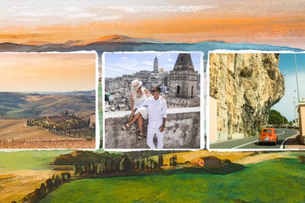 Carte postale de Toscane avec photos
