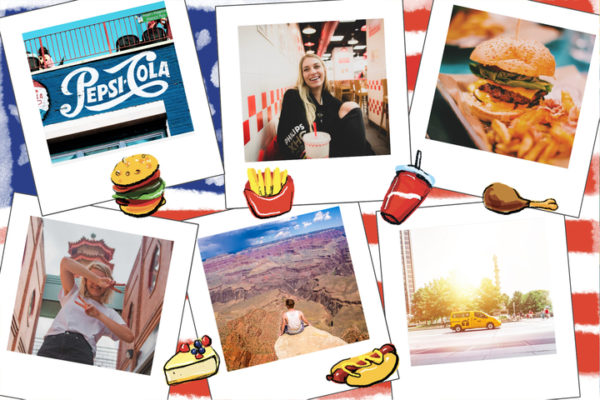 carte postale food usa