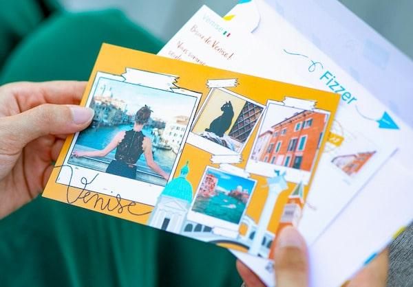 Fizzer postcard with one photo