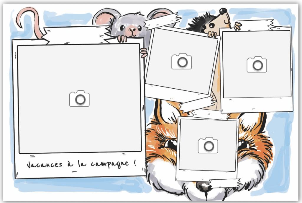 Renard, souris et hérissons animaux en danger à la campagne