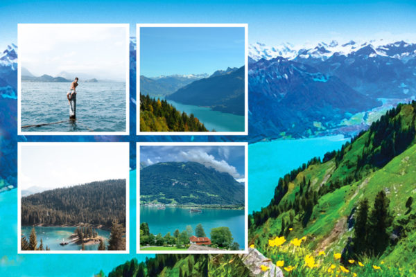 carte postale paysage suisse