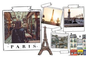 Carte postale de Paris avec Tour Eiffel
