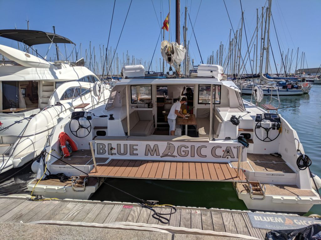 Catamaran activité à Barcelone