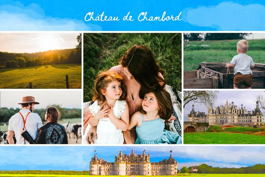 carte du chateau de Chambord