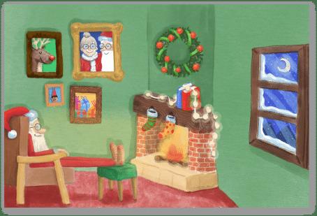 Père Noël et cheminée